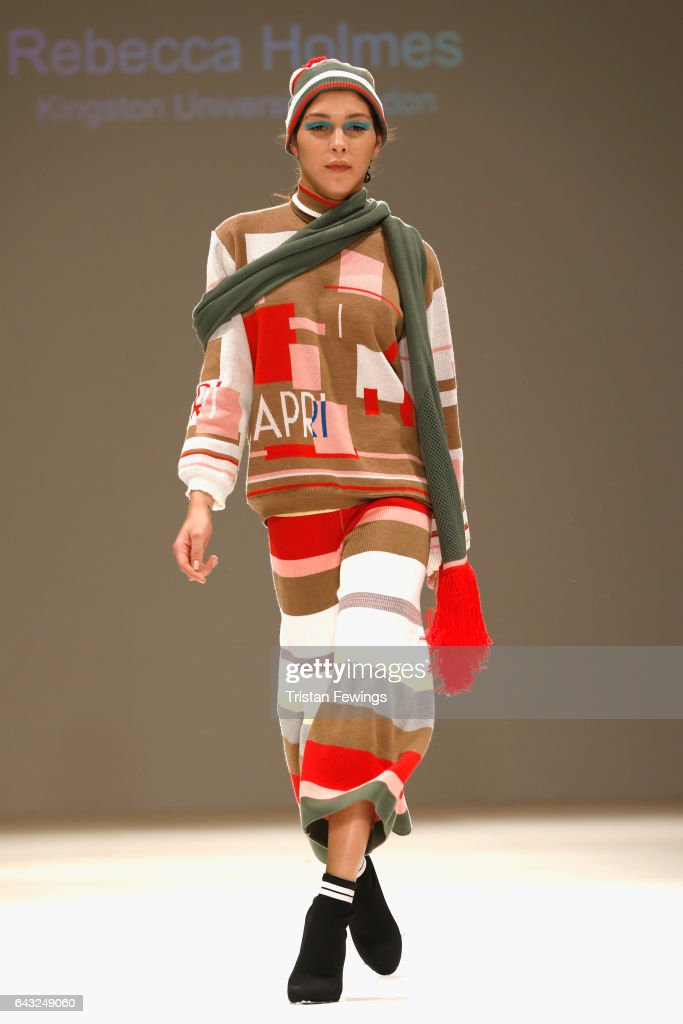 model-walks-the-runway-at-the-fad-show-during-the-london-fashion-week-picture-id643249060
