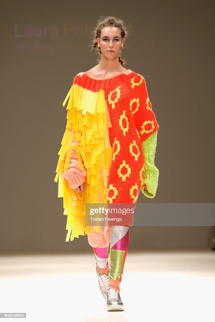 model-walks-the-runway-at-the-fad-show-during-the-london-fashion-week-picture-id643249064