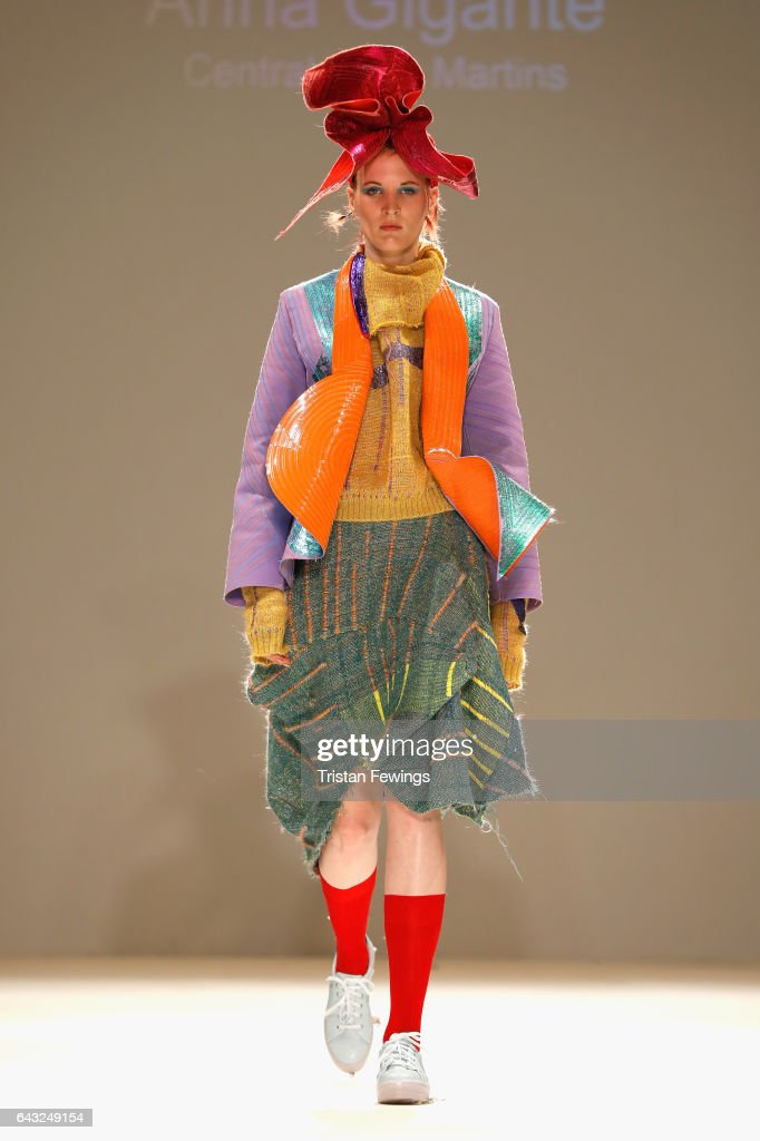 model-walks-the-runway-at-the-fad-show-during-the-london-fashion-week-picture-id643249154