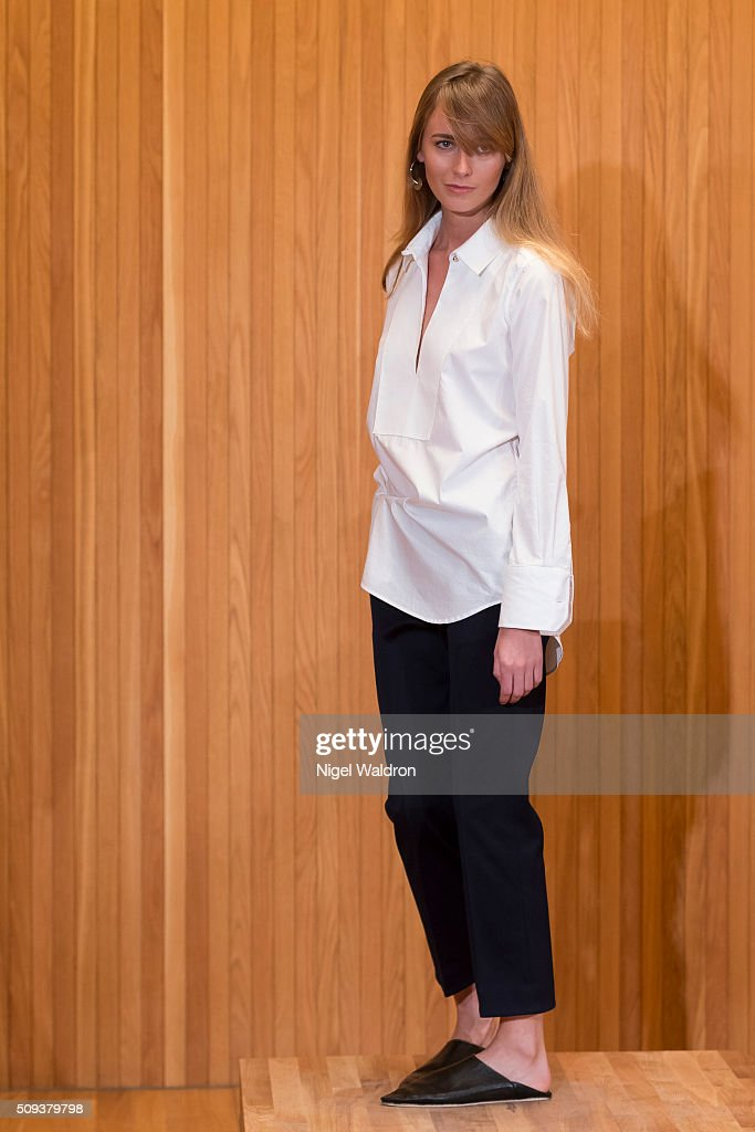 A model walks the runway at the Fall Winter Spring Summer show during the Fashion Week Oslo Autumn/Winter 2016/2017 at the F5 Showcase Oslo on February 10, 2016 in Oslo, Norway.