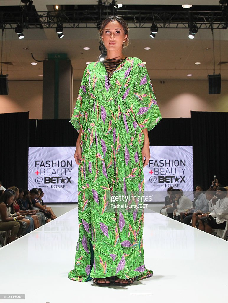 A model walks the runway at the Fashion & Beauty @ BETX sponsored by Progressive fashion show during the 2016 BET Experience on June 25, 2016 in Los Angeles, California.