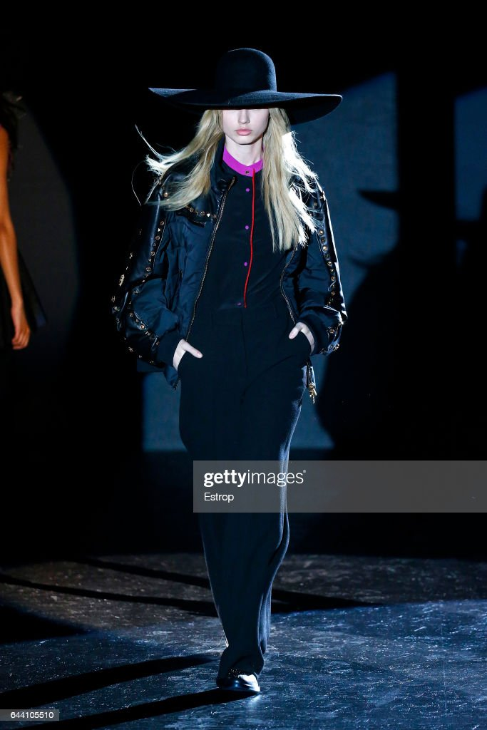 model-walks-the-runway-at-the-fausto-puglisi-show-during-milan-week-picture-id644105510
