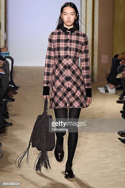 A model walks the runway at the Fay Autumn Winter 2015 fashion show during Milan Fashion Week on February 25 2015 in Milan Italy