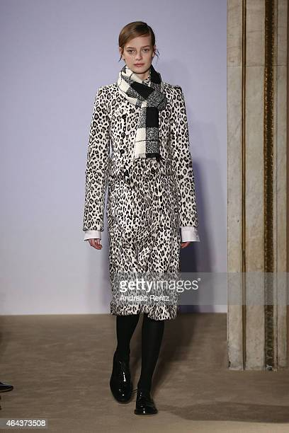 A model walks the runway at the Fay show during the Milan Fashion Week Autumn/Winter 2015 on February 25 2015 in Milan Italy