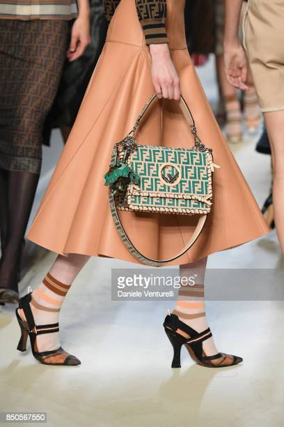 A model walks the runway at the Fendi show during Milan Fashion Week Spring/Summer 2018 on September 21 2017 in Milan Italy
