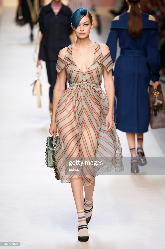 model-walks-the-runway-at-the-fendi-show-during-milan-fashion-week-picture-id851775304