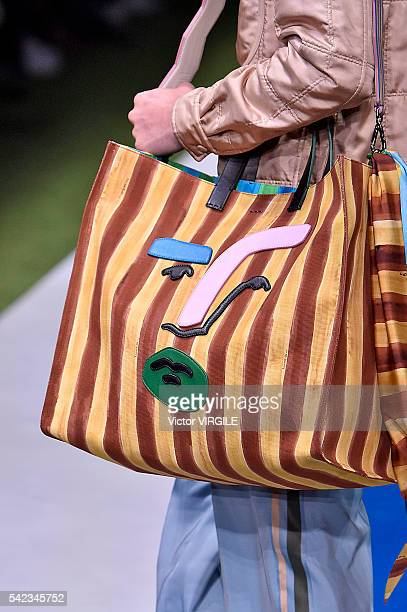A model walks the runway at the Fendi show during Milan Men's Fashion Week Spring/Summer 2017 on June 20 2016 in Milan Italy