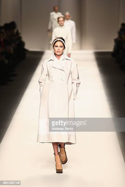 A model walks the runway at the Fendi show during the Milan Fashion Week Autumn/Winter 2015 on February 26 2015 in Milan Italy