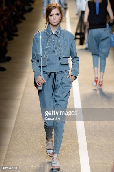 A model walks the runway at the Fendi Spring Summer 2015 fashion show during Milan Fashion Week on September 18 2014 in Milan Italy