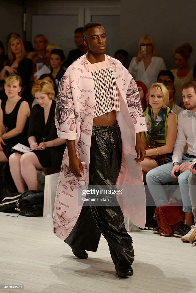 A model walks the runway at the Franziska Michael show during the Mercedes-Benz Fashion Week Spring/Summer 2015 at Erika Hess Eisstadion on July 9, 2014 in Berlin, Germany.