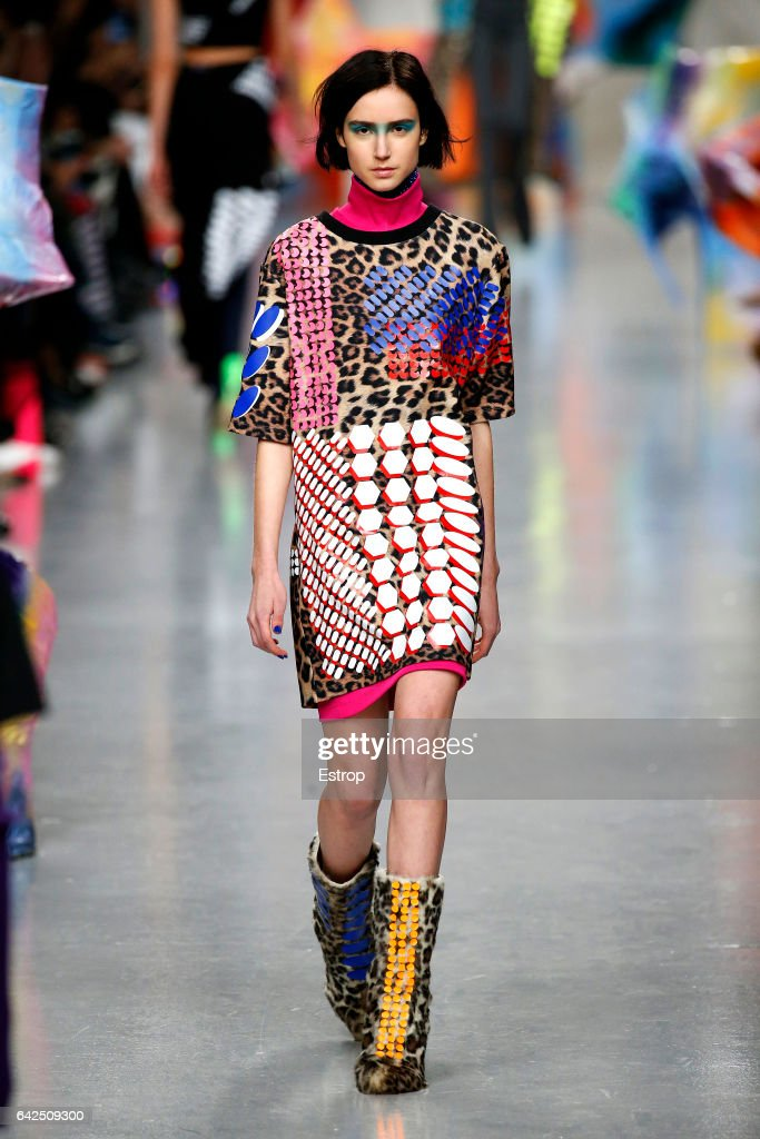 model-walks-the-runway-at-the-fyodor-golan-show-during-the-london-picture-id642509300