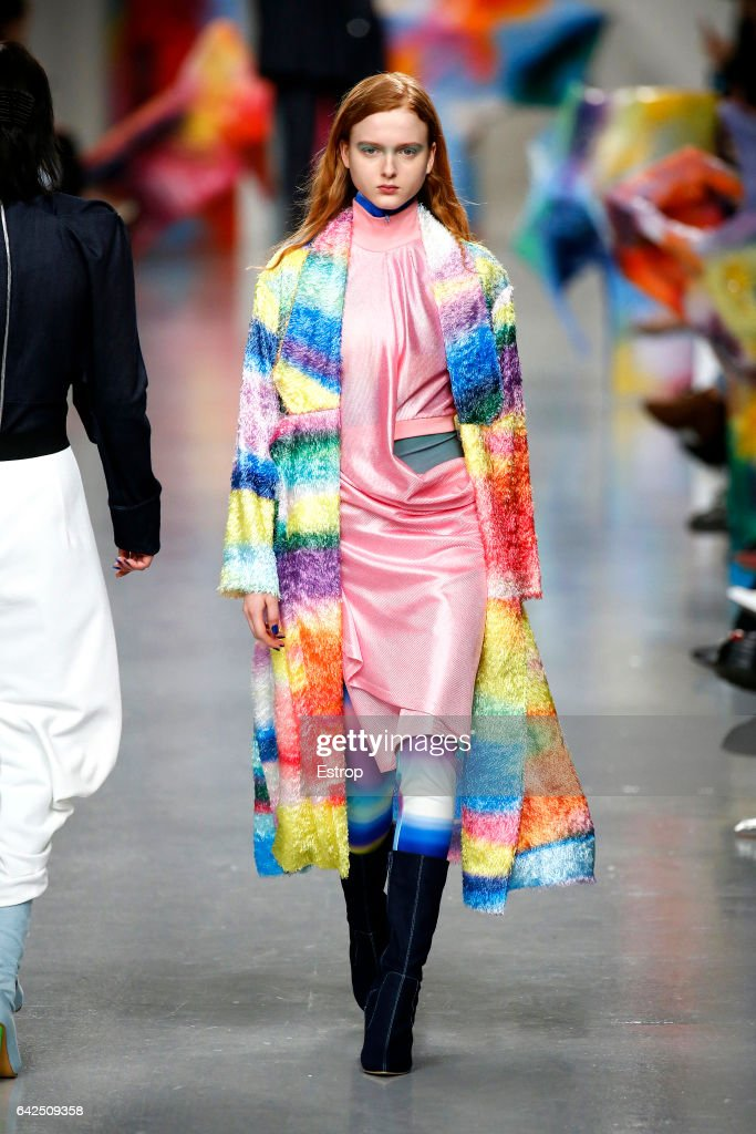 model-walks-the-runway-at-the-fyodor-golan-show-during-the-london-picture-id642509358