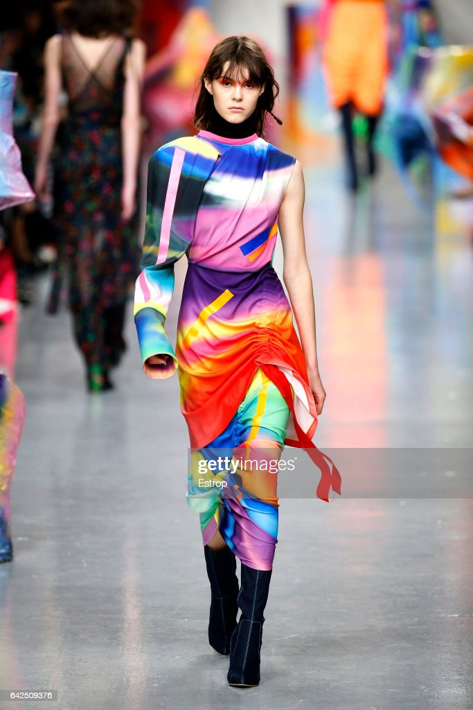 model-walks-the-runway-at-the-fyodor-golan-show-during-the-london-picture-id642509376