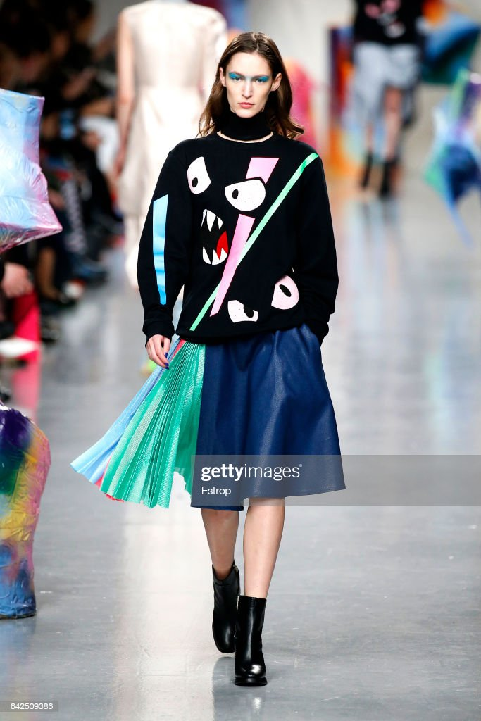 model-walks-the-runway-at-the-fyodor-golan-show-during-the-london-picture-id642509386