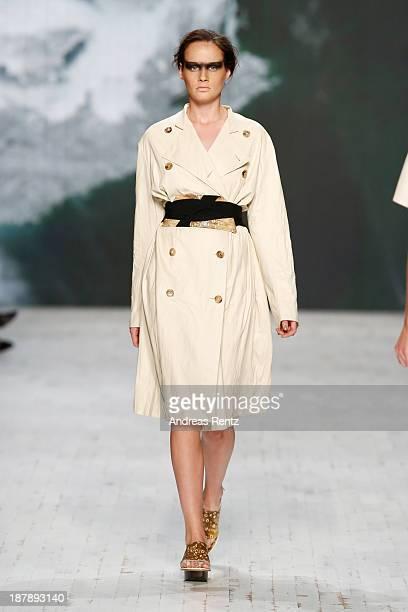 A model walks the runway at the Gabriele Colangelo show during MercedesBenz Fashion Days Zurich 2013 on November 13 2013 in Zurich Switzerland
