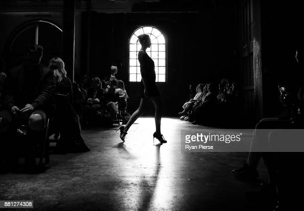 A model walks the runway at the Gary Bigeni Show at MercedesBenz Fashion Week Resort 18 Collections at Carriageworks on May 16 2017 in Sydney...