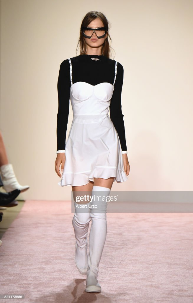 model-walks-the-runway-at-the-gcds-fashion-show-during-new-york-week-picture-id844173656