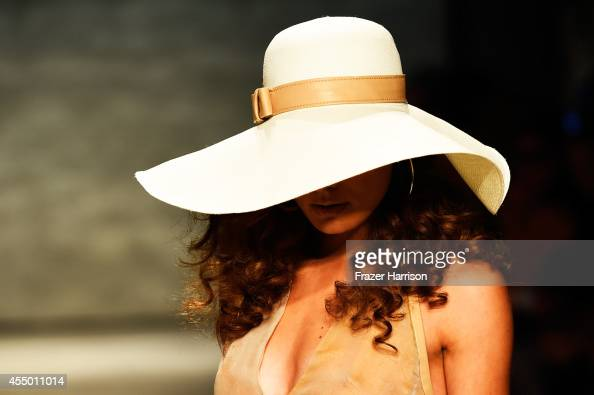A model walks the runway at the Georgine fashion show during MercedesBenz Fashion Week Spring 2015 at The Pavilion at Lincoln Center on September 8...
