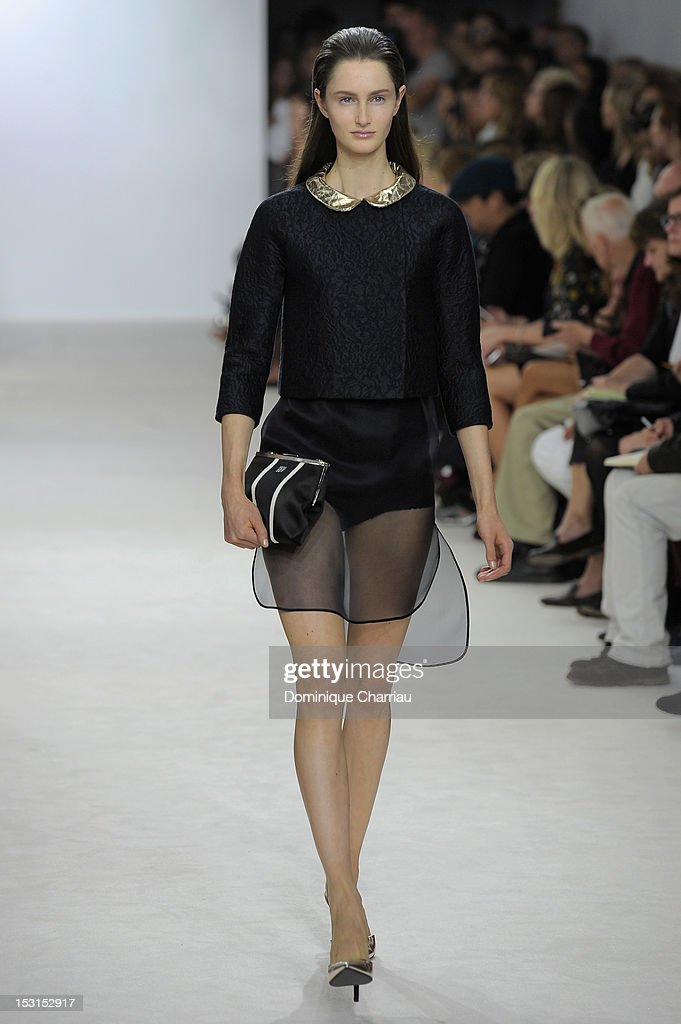 A model walks the runway at the Giambattista Valli Spring / Summer 2013 show as part of Paris Fashion Week on October 1, 2012 in Paris, France.