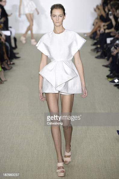 A model walks the runway at the Giambattista Valli Spring Summer 2014 fashion show during Paris Fashion Week on September 30 2013 in Paris France
