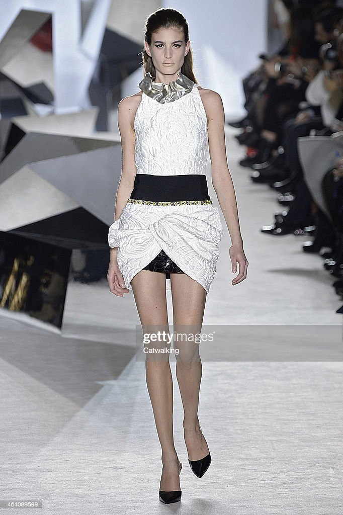 A model walks the runway at the Giambattista Valli Spring Summer 2014 fashion show during Paris Haute Couture Fashion Week on January 20, 2014 in Paris, France.