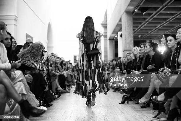 A model walks the runway at the Ginger Smart show at MercedesBenz Fashion Week Resort 18 Collections at Art Gallery NSW on May 17 2017 in Sydney...