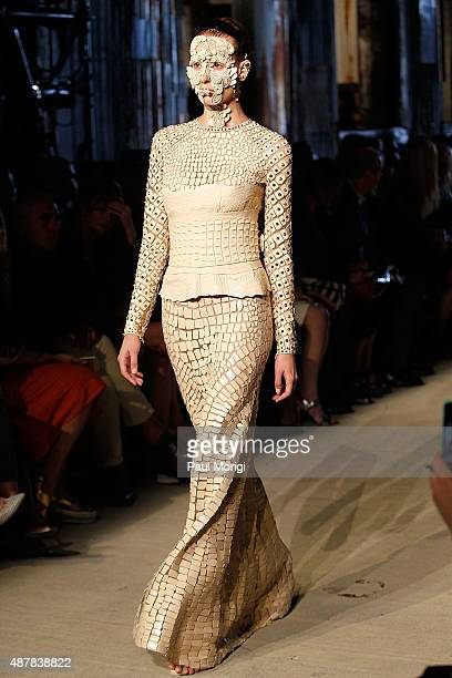 A model walks the runway at the Givenchy fashion show during Spring 2016 New York Fashion Week on September 11 2015 in New York City