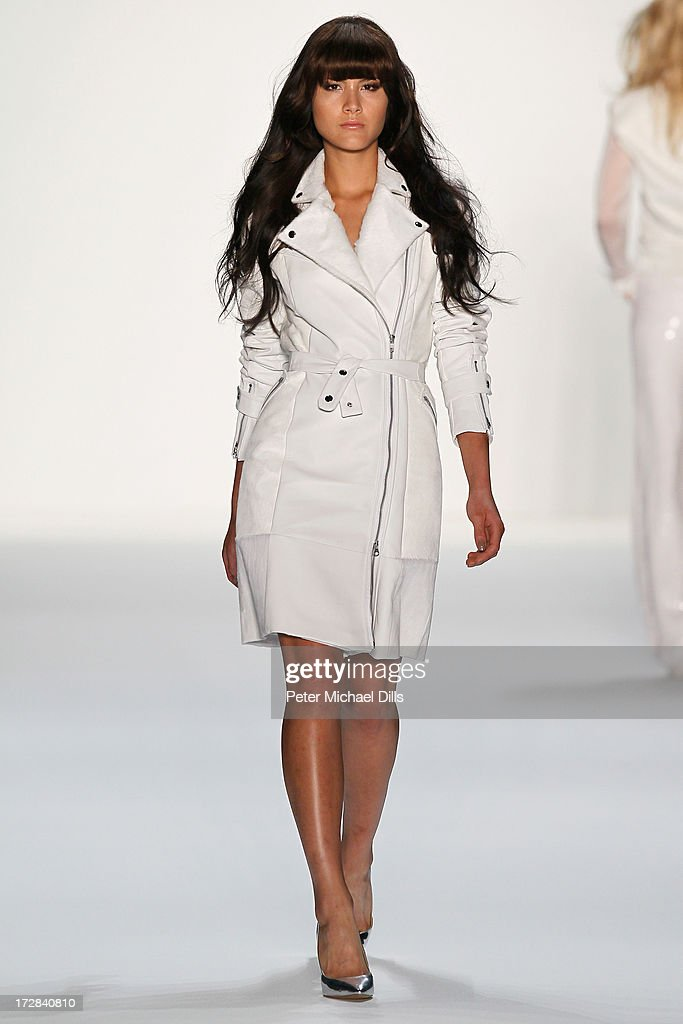 A model walks the runway at the Glaw Show during Mercedes-Benz Fashion Week Spring/Summer 2014 at Brandenburg Gate on July 5, 2013 in Berlin, Germany.