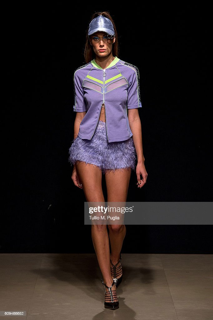 model-walks-the-runway-at-the-grinko-show-during-milan-fashion-week-picture-id609466652