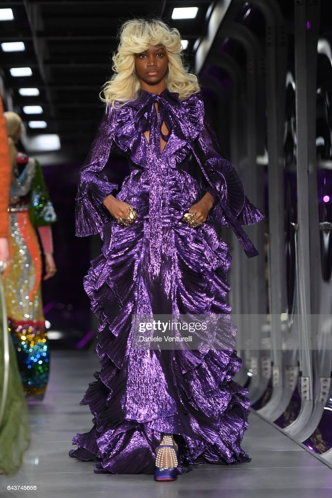 model-walks-the-runway-at-the-gucci-show-during-milan-fashion-week-picture-id643745656