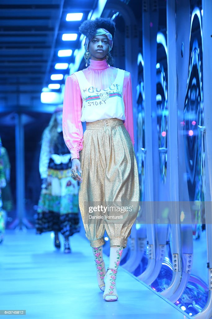 model-walks-the-runway-at-the-gucci-show-during-milan-fashion-week-picture-id643745812