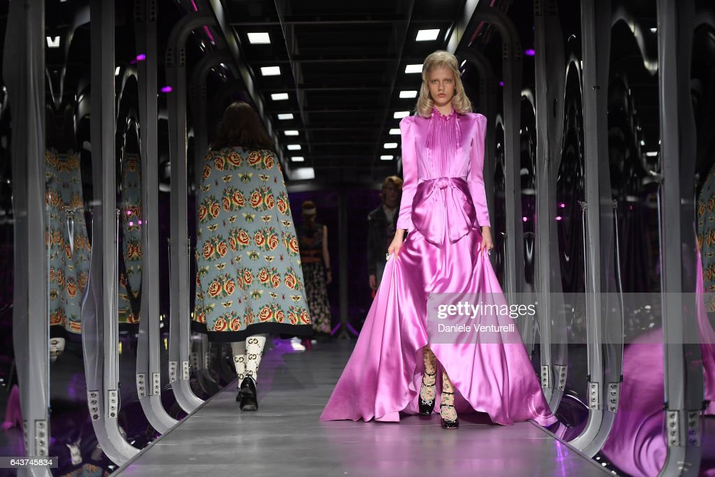model-walks-the-runway-at-the-gucci-show-during-milan-fashion-week-picture-id643745834