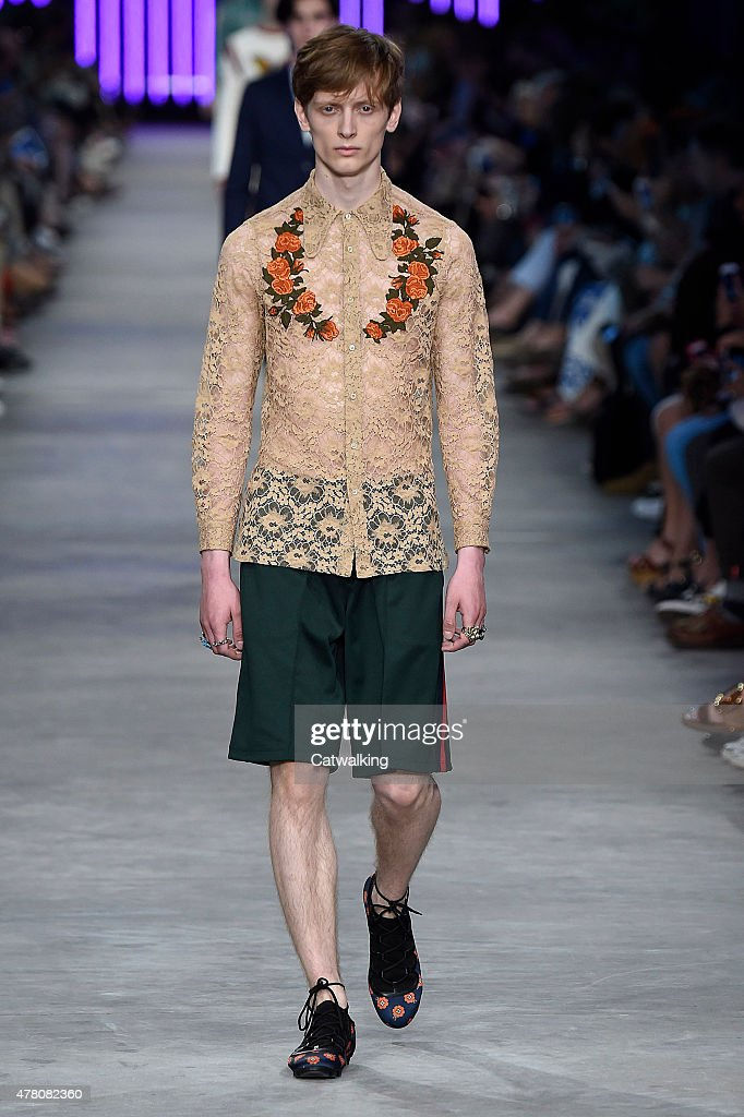 Gucci mens spring 2016 runway milan menswear fashion for Runway fashion show video