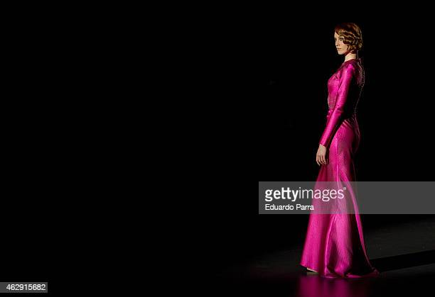 A model walks the runway at the Hannibal Laguna show during Madrid Fashion Week Fall/Winter 2015/16 at Ifema on February 7 2015 in Madrid Spain