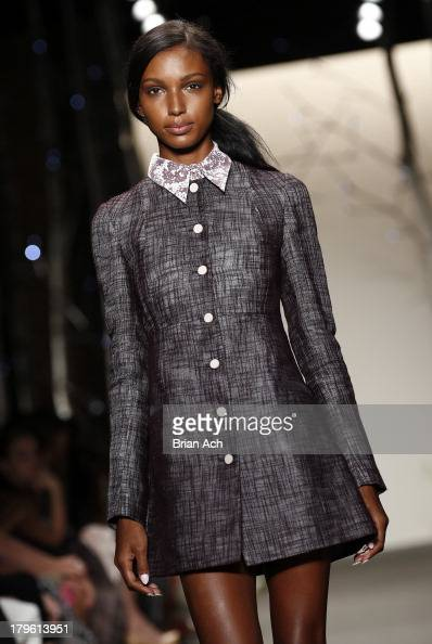 A model walks the runway at the Honor fashion show during MercedesBenz Fashion Week Spring 2014 at Eyebeam on September 5 2013 in New York City