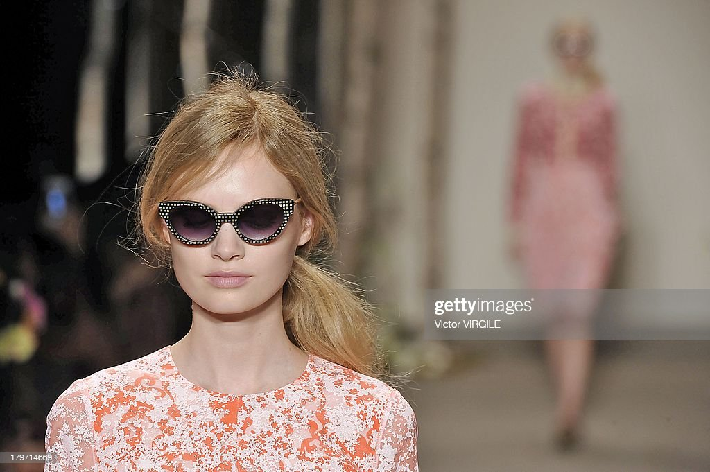 A model walks the runway at the Honor fashion show during Mercedes-Benz Fashion Week Spring Summer 2014 at Eyebeam on September 5, 2013 in New York City.