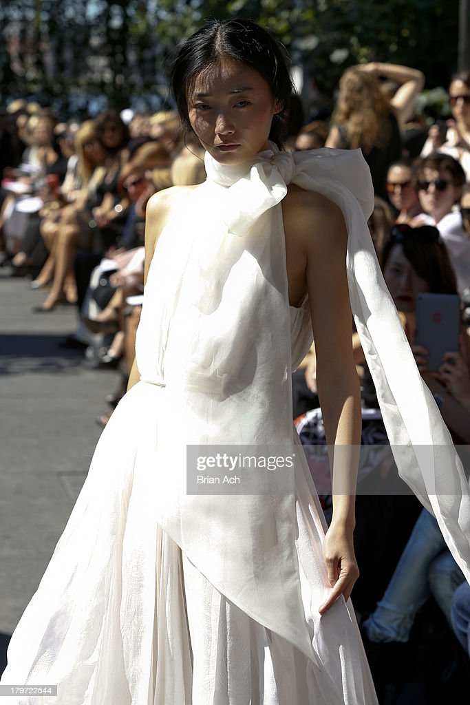 A model walks the runway at the Houghton fashion show during MADE Fashion Week Spring 2014 at The Standard Hotel - High Line Room on September 6, 2013 in New York City.