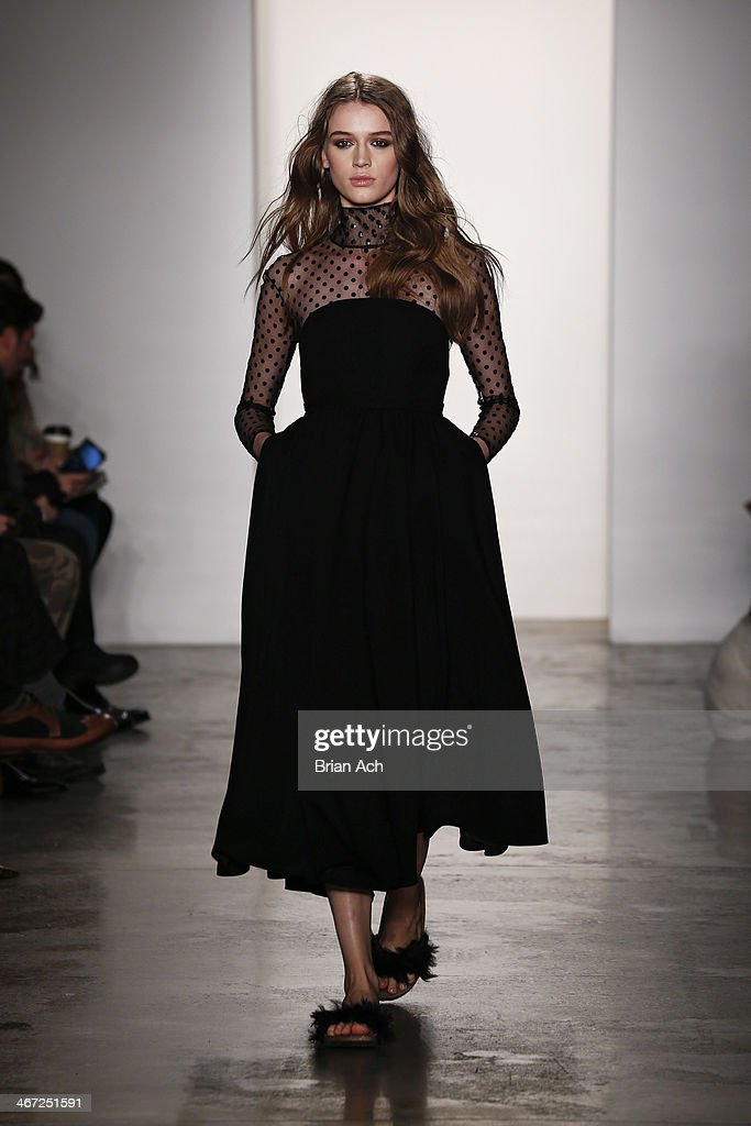 A model walks the runway at the Houghton fashion show during MADE Fashion Week fall 2014 at Milk Studios on February 6, 2014 in New York City.