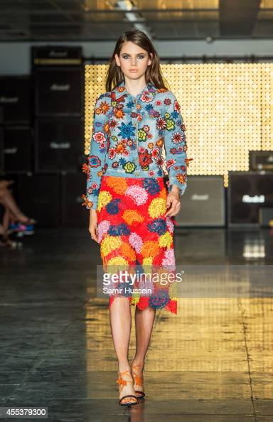A model walks the runway at the House of Holland show during London Fashion Week Spring Summer 2015 on September 13 2014 in London England