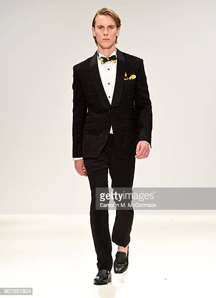 A model walks the runway at the House of Mea show at Fashion Scout during London Fashion Week Spring/Summer collections 2017 on September 18 2016 in...