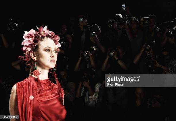 A model walks the runway at the Innovators Show at MercedesBenz Fashion Week Resort 18 Collections at Carriageworks on May 17 2017 in Sydney Australia