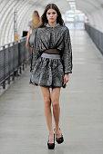 A model walks the runway at the Iris Van Herpen Spring Summer 2015 fashion show during Paris Fashion Week on September 30 2014 in Paris France
