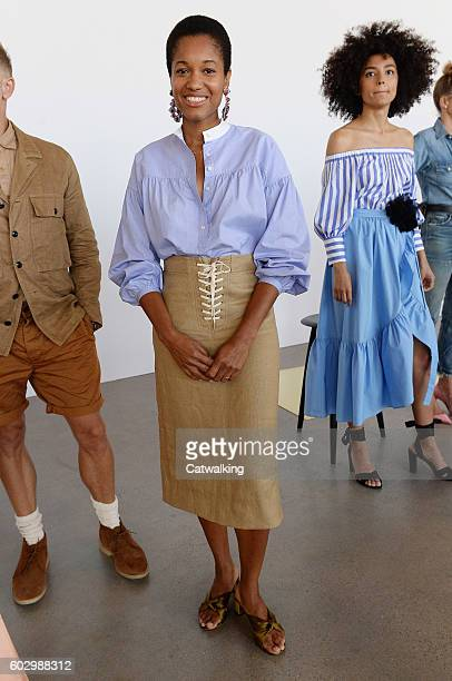 A model walks the runway at the J Crew Spring Summer 2017 fashion show during New York Fashion Week on September 11 2016 in New York United States