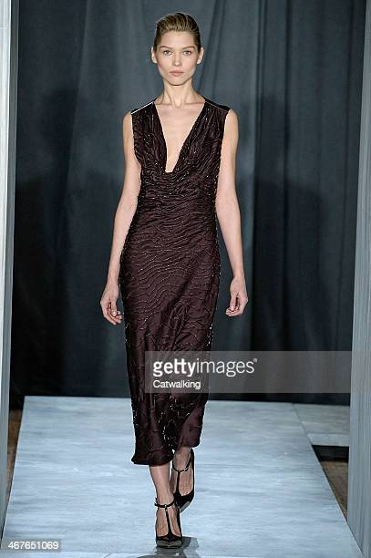 A model walks the runway at the Jason Wu Autumn Winter 2014 fashion show during New York Fashion Week on February 7 2014 in New York United States