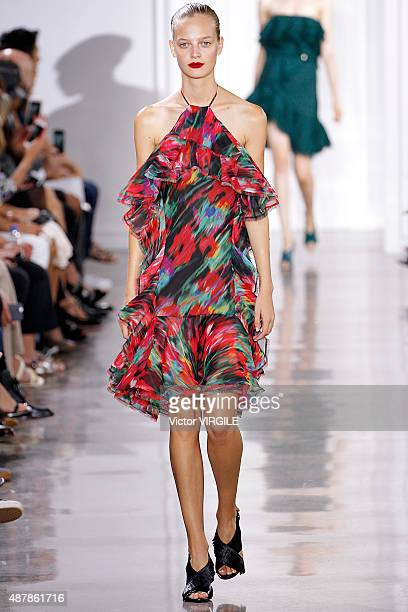 A model walks the runway at the Jason Wu fashion show during the Spring Summer 2016 New York Fashion Week on September 11 2015 in New York City