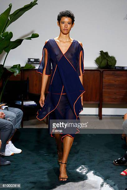 A model walks the runway at the Jason Wu show at The Gallery Skylight at Clarkson Sq on September 9 2016 in New York City