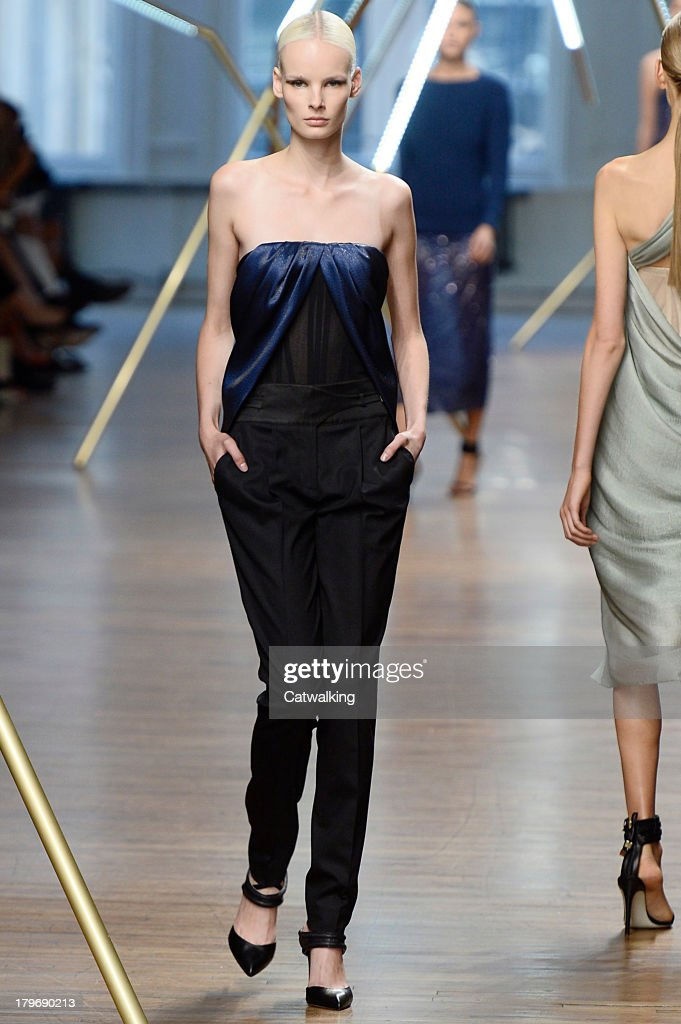 A model walks the runway at the Jason Wu Spring Summer 2014 fashion show during New York Fashion Week on September 6, 2013 in New York, United States.