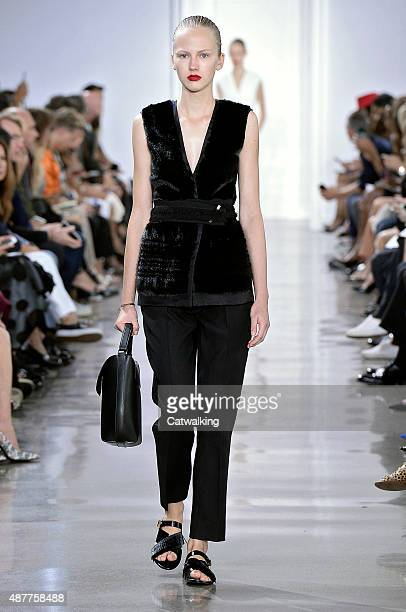 A model walks the runway at the Jason Wu Spring Summer 2016 fashion show during New York Fashion Week on September 11 2015 in New York United States