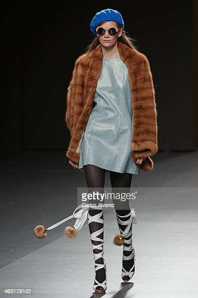 A model walks the runway at the Jesus Lorenzo show during Madrid Fashion Week Fall/Winter 2015/16 at Ifema on February 10 2015 in Madrid Spain