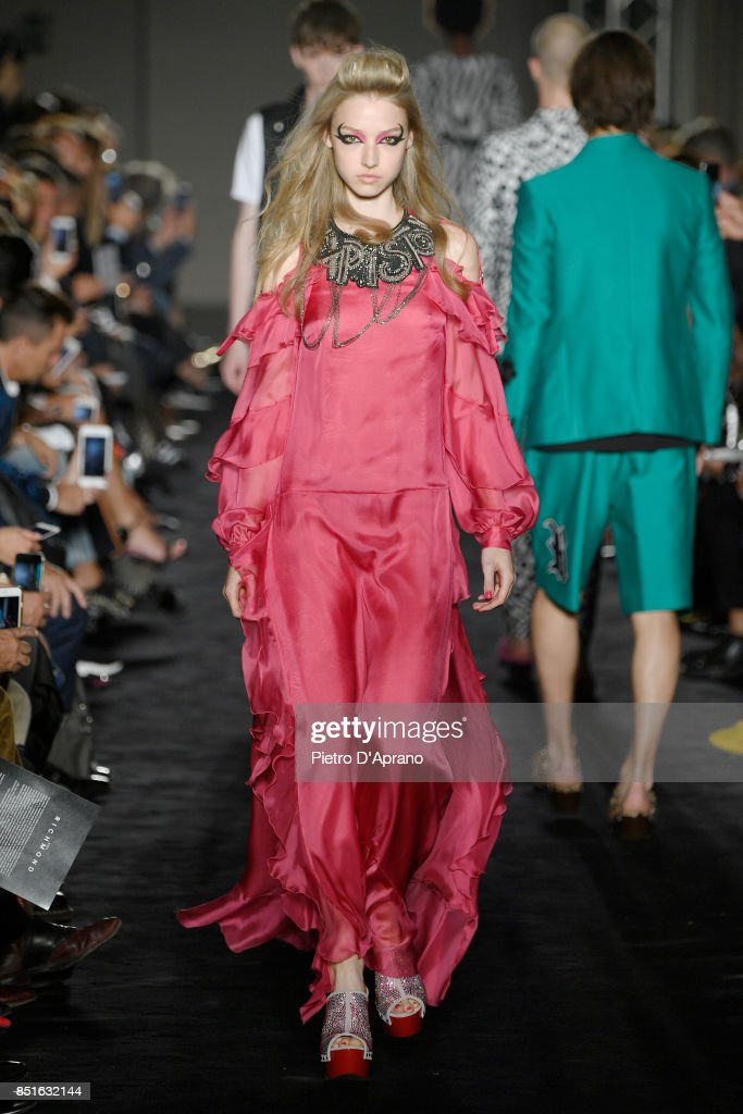 model-walks-the-runway-at-the-john-richmond-show-during-milan-fashion-picture-id851632144